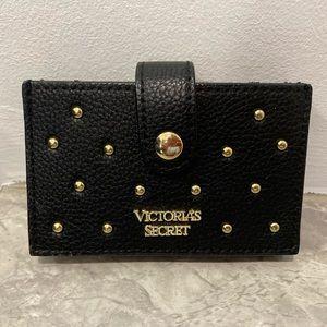 Victoria's Secret Bags - Victoria's Secret black wallet gold embellishments